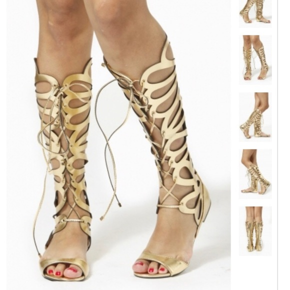 410165d80dd0 Breckelles Shoes - Breckelle s Knee High Cutout Gladiator Sandals